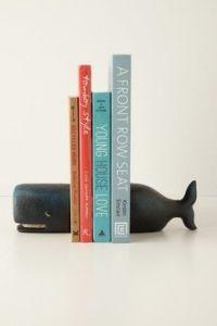 whale book end